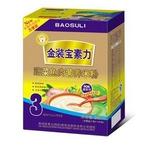 宝素力3段蔬菜鱼肉营养米粉250g