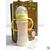 史代尔防摔防胀气双层保温晶钻玻璃奶瓶宽口手柄160ml
