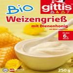 吉特士(GITTIS)欧盟有机牛奶蜜蜂味米糊