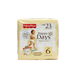 费雪快乐之日新生儿婴儿日用纸尿裤6号23片装