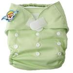婴秀纯色魔术贴布尿裤(淡绿色)