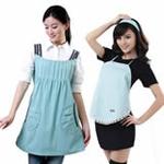 爱家防辐射孕妇装AJ605浅蓝XL+防辐射肚兜AJ101(颜色随机)