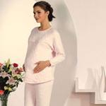 妈咪秘密纯棉提花哺乳保暖套装729016粉色170/XL
