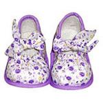 向阳花小花布公主鞋809紫-13