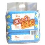 玲瑶婴儿护肤柔湿巾(80片*3)