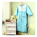 睡王小鹿小象去郊游精梳棉蓝色标准款成长睡袋