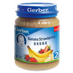 嘉宝香蕉草莓泥130g(6个月以上)