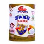 明一鸡肉蔬菜营养米粉500g