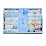 香港亿婴儿高档带包巾服饰礼盒大礼包2153蓝