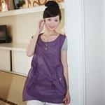 静蕾离子银纤维防辐射孕妇装8328紫色XL