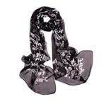 EnjoyLove女士炫彩丝质长围巾优雅字母黑色