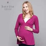 珂莉蒂花园美式休闲孕哺两用上衣811W-2003紫红色210L