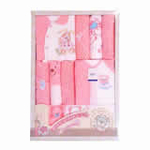 GUGA咕嘎纯棉四季款宝宝婴儿高档礼盒219粉色0-12个月