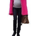LOVESMAMA新款孕妇装韩版秋冬仿牛仔弹力孕妇保暖打底毛裤96175黑色均码
