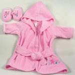 安香态浴袍拖鞋组合-粉色