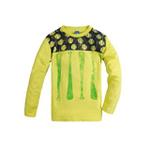 派克兰帝男童棒球系列圆领长袖T恤LUWE025502柠檬绿150