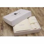 丽儿宝毛巾礼盒(四条装粉黄)