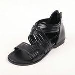 兔仔唛TUZAMA大女童新款罗马水钻公主凉鞋黑色36码