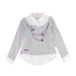 派克兰帝星女童衬衫式T恤PUWE075801花灰110