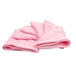 美亲竹纤维小浴巾100%竹纤维粉色