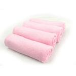 美亲竹纤维小方巾100%竹纤维粉色