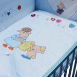 婴妮儿温馨时刻婴儿床品空调被床围12件套/蓝色(预付款)