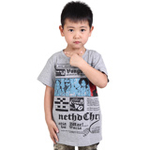 雪精灵男童短袖T恤X1-72110花灰色/140