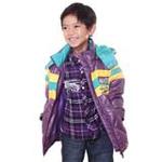 雪精灵男童羽绒服X10025紫色/130