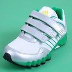 adidas/阿迪达斯小童网面透气运动鞋G62489亮白/尊贵绿185