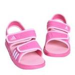 新款阿迪达斯/adidas女童夏季婴童凉鞋V21630深粉/亮白140