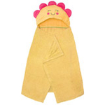 FLUREBABY精梳棉造型浴巾85*105cm黄