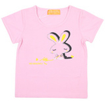 红蜻蜓摩登田园系列短袖T恤52720499粉红色/130