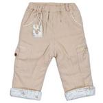 E-baby如意宝贝魔法兔保暖直条长裤E115237浅卡其/100