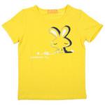 红蜻蜓摩登田园系列短袖T恤52720499黄色/160