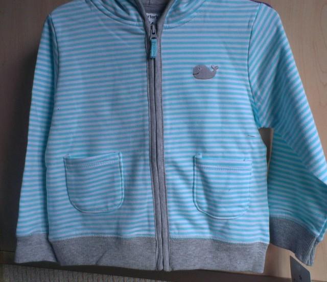 小鲸鱼浅蓝色条纹3件套: 已转。 148元。