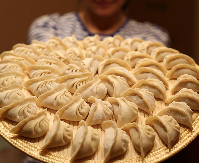 饺子的包法