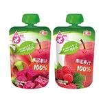 汇源100%果泥果蔬汁(babybox派发120gx2袋)