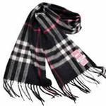 恒源羊绒羊毛加厚保暖男士长围巾礼盒装SFBX180-81大巴格黑色